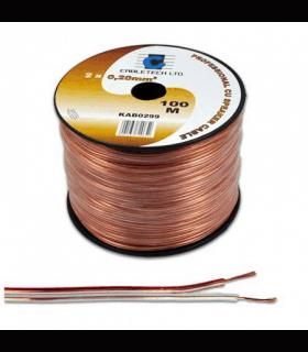 Cablu difuzor 4mm cupru transparent 100m Cabletech