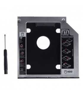 Rack adaptor super slim DVD SATA caddy la 2.5 SATA HDD sau SSD 9mm