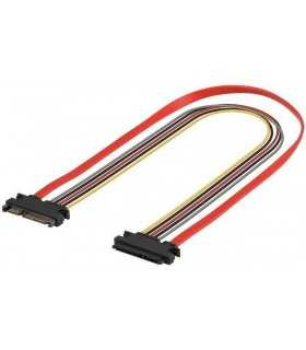 Cablu prelungire alimentare si date SATA 0.3m Goobay