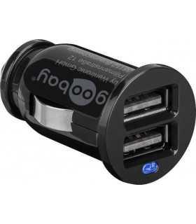 Alimentator USB 12V/24V la 2x USB 2.1A Goobay