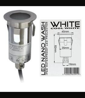 Corp iluminat nano LED WASH IP68 alb