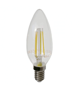 Bec LED E14 cu filament LED 4W 2700K V-TAC