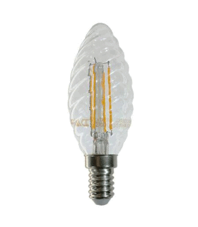 Bec E14 LED cu filament LED 4W 2700K spirala V-TAC