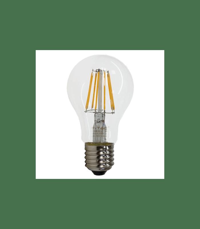 Bec E27 cu filament LED A60 6W 2700K V-TAC