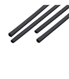 Tub termocontractant 10mm 0.5m/ 5mm negru Kemot