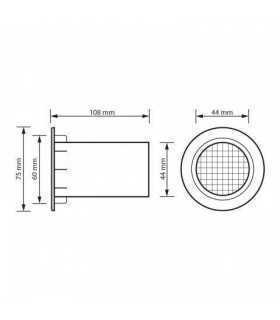Tub bass reflex 43/75x105mm