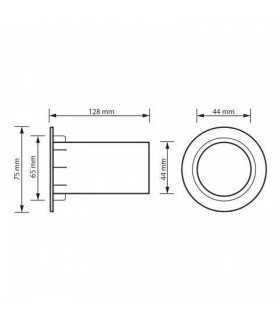 Tub bass reflex 45/75x125mm