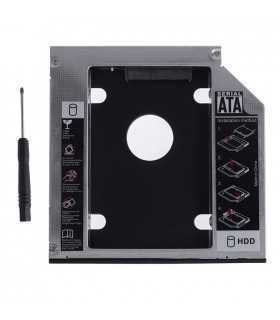 "Rack adaptor dvd slim SATA caddy 12.7mm la 2.5"" SATA Hdd/ SSD"