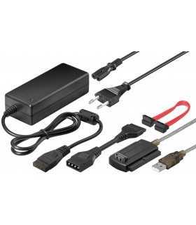 Cablu adaptor hdd IDE hdd SATA si hdd SSD la USB Goobay