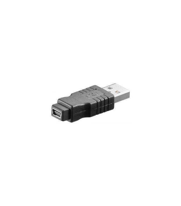 Adaptor USB A tata - mini USB-B 5 pini mama Goobay