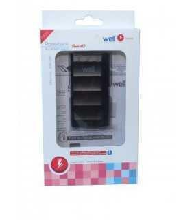 Acumulator USB portabil powerbank 4000mAh 1A negru Well