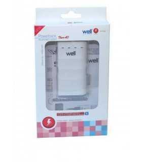 Acumulator USB portabil powerbank 4000mAh 1A alb Well