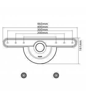 Suport universal ultra-subtire pentru LCD 32-70 inch max 40kg Goobay