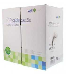 Cablu FTP CAT5e 8 fire din cupru 0.50mm Well