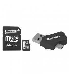 MicroSD CARD 8GB adaptor SD +USB +MICRO PLATINET