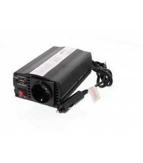 Invertor de tensiune 12V-230V si USB 5V 500mA Well