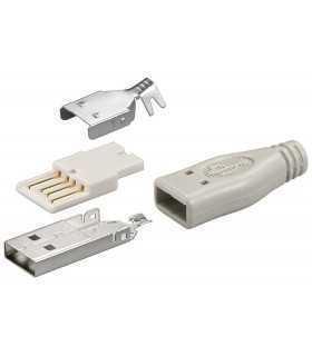 Conector USB A tata cu lipire Goobay