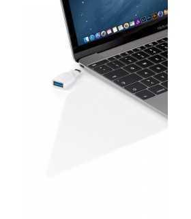 Adaptor USB 3.0 A mama - USB C tata alb Goobay