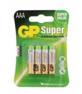 Baterii alcaline R3 AAA 4 buc/blister Super GP