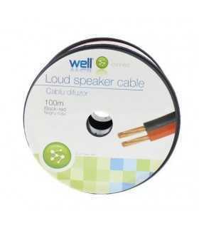 Cablu difuzor rosu/negru OFC cupru 2x0.75mm Well