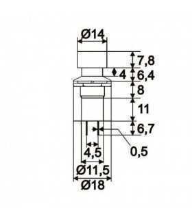 Intrerupator cu apasare 1 circuit 1A 250V OFF-ON negru