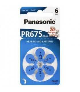 Baterii aparate auditive PR675 V675 HA675 PR44 Panasonic 6buc