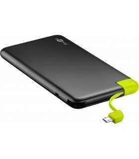 Acumulator portabil powerbank Li-polimer 4000mAh cu cablu micro USB Goobay