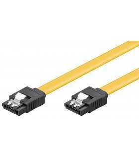 Cablu de date SATA L - SATA L 0.7m galben Goobay