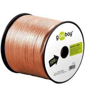 Cablu boxe 2x2.5mm transparent Goobay