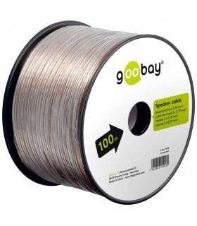 Cablu boxe 2x0.75mm transparent CCA Goobay