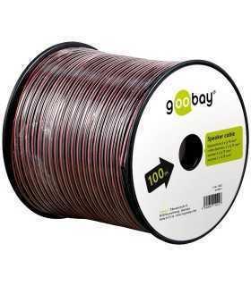 Cablu boxe 2x0.75mm CCA rosu/negru Goobay