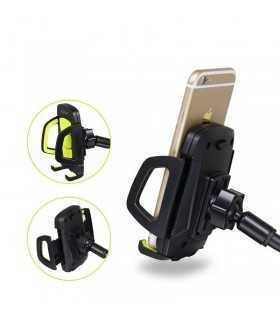 Suport telefon negru auto cu montare pe geam GOLF CH07